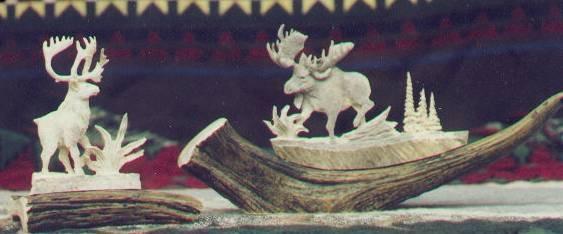 Deer Antler Carvings