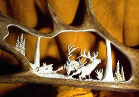 Moose Antler Carving For Sale