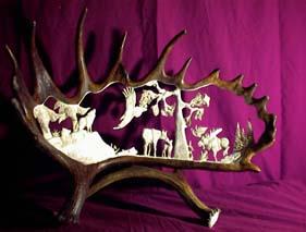 Moose Antler Artwork
