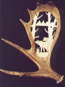 Moose Antler Wolf Carbings
