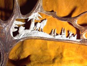 Custom Moose Antler Carvings